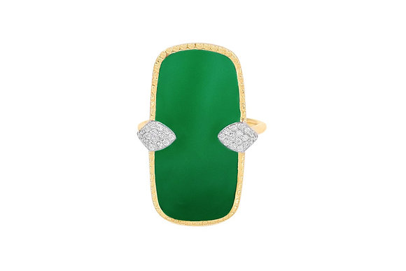 BE MAAD - Bague Sangha Onyx vert