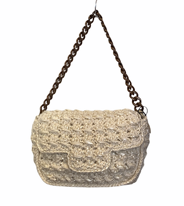 CATERINA BERTINI Sac grand modèle laine&raffia