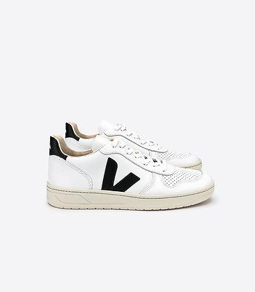 VEJA - V10 leather extra white black