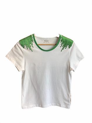 DEDIKATE - T-shirt épaulette vert
