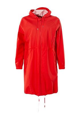 RAINS - Long Jacket W Red