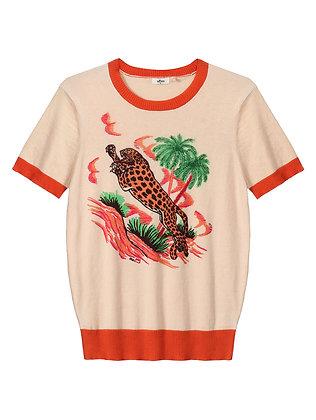 Me369 T-shirt Nora Leopard