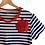 Thumbnail: DEDIKATE - T-shirt Bleu Fleur Rouge