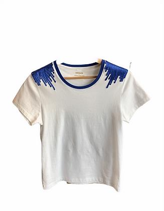 DEDIKATE - T-shirt épaulette Bleu