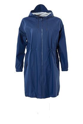 RAINS - Long Jacket W bleu