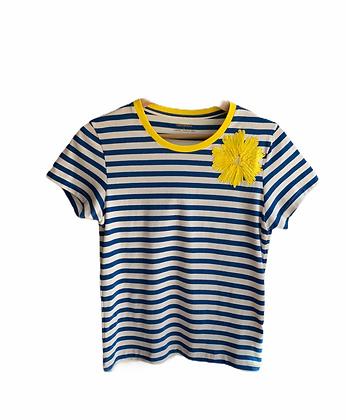 DEDIKATE - T-shirt bleu Fleur Jaune