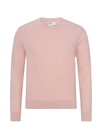 COLORFUL STANDARD -  Pull col rond faded pink