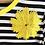 Thumbnail: DEDIKATE - T-shirt Noir fleur jaune