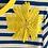Thumbnail: DEDIKATE - T-shirt bleu Fleur Jaune