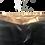 Thumbnail: DEDIKATE - Pantalon Crépon noir et doré