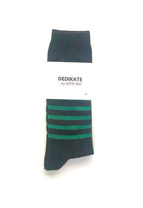 DEDIKATE - Chaussettes rayées vert