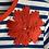 Thumbnail: DEDIKATE - T-shirt Indigo fleur rouge