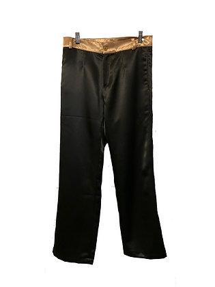 DEDIKATE - Pantalon Crépon noir et doré