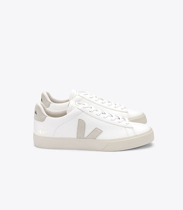 VEJA - Campo leather white naturel suede
