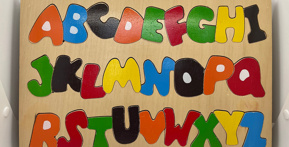 3.5 and Up: Wooden Alphabet Puzzle – Funky Letters