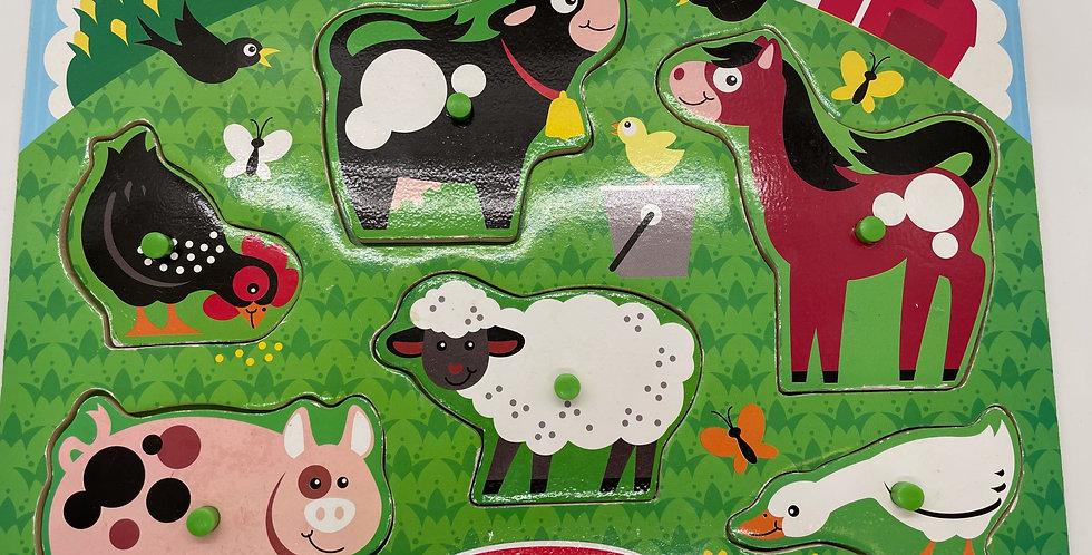 2 and Up: Farm Animals Puzzle