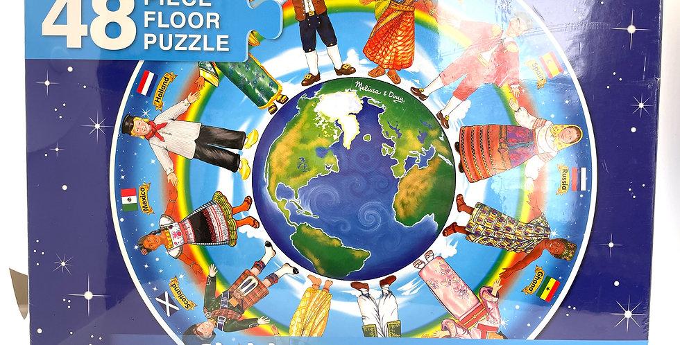4 and Up: Children Around the World Floor Puzzle