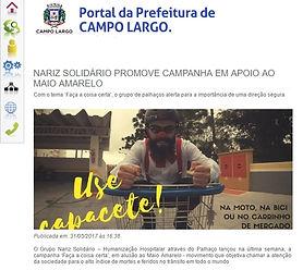 NARIZ SOLIDARIO MAIO AMARELHO  PREFEITUR