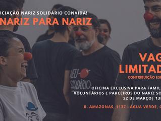 Nariz Solidário promove primeira oficina para apoiadores e familiares de voluntários.