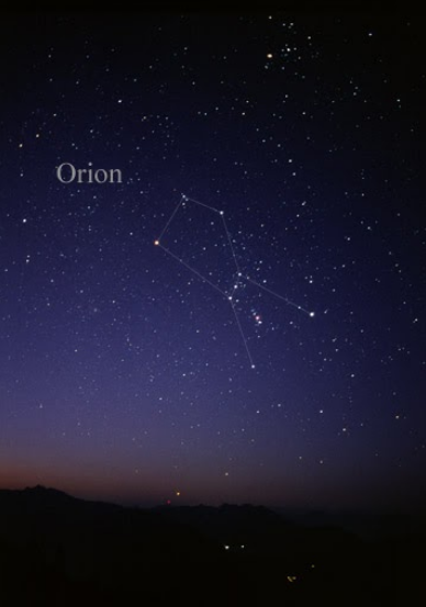 The constellation Orion in photograph