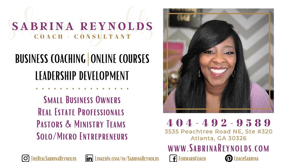 Sabrina Reynolds Coach-Consultant