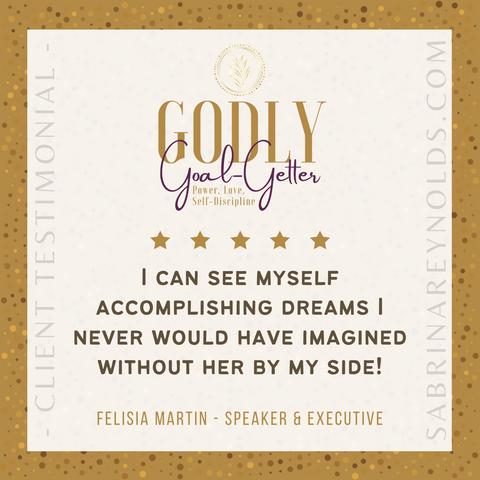 Testimonial Speaker Felisia Martin