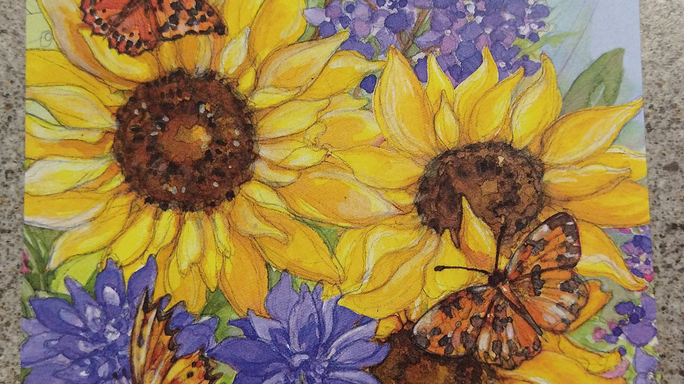 Get Well Soon Card - Sunflowers