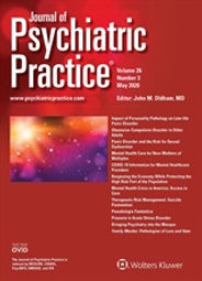 Samaiya Mushtaq: Practitioner's Corner of Journal of Psychiatric Practice