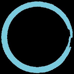 משיכת מכחול כחולה בצורת עיגול