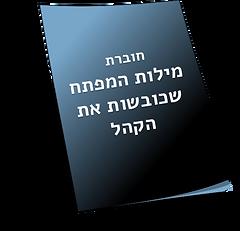 תמונה של חוברת שכתוב עליה חוברת מילות המפתח שכובשות את הקהל