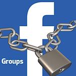 תמונה של אייקון של פייסבוק עם שרשרת סגורה עליה