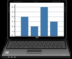 תמונה של מחשב עם גרף