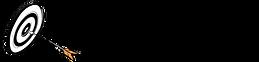 לוגו של לכוון גבוה ולפגוע עם תמונה של חץ ומטרה