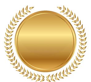 תמונה של סמל עגול זהוב