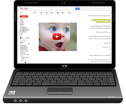תמונה של מחשב עם טקסט ותמונה של סרטון מיוטיוב