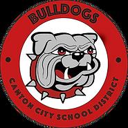 Circle with White Center CCSD Bulldog 20