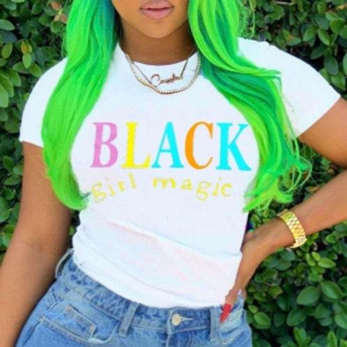 "Black Girl Magic ""White""Tee"