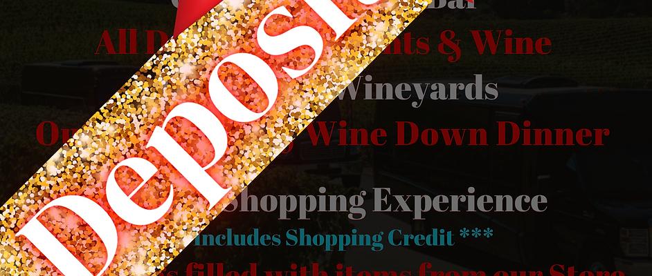 Boujie Bish Wine Tour -Save your Spot Deposit -
