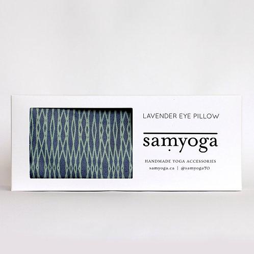 Lavender Eye Pillow - Sea + Seafoam Geometric