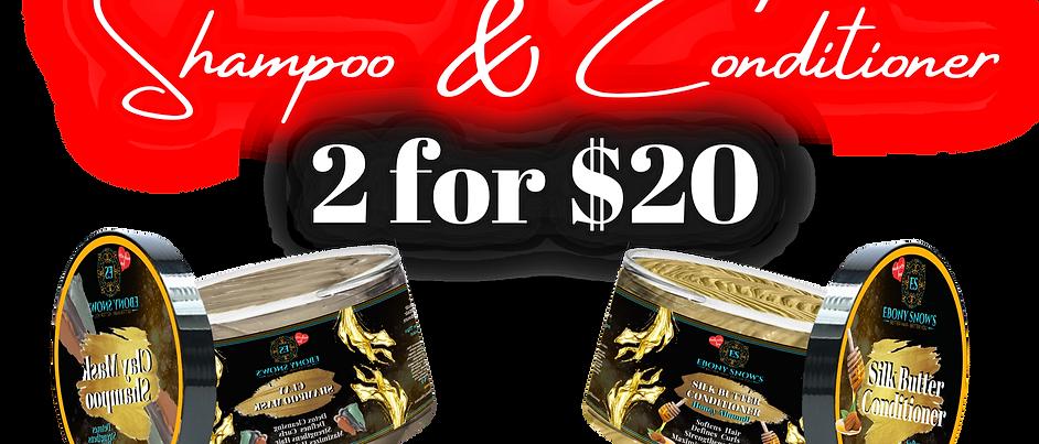 2 for $20 Shampoo & Conditioner