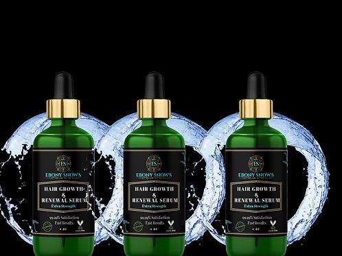 Hair Growth & Renewal Serum -3 Bottle Bundle