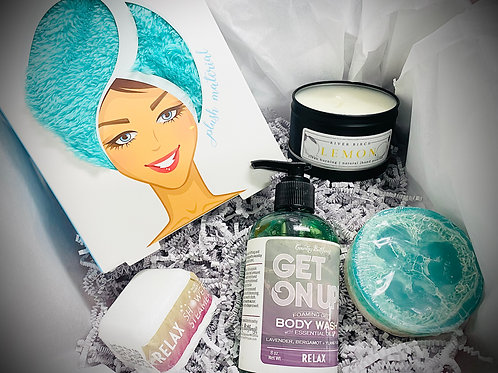 Relax Spa Box - Deluxe Value - FREE Shipping - All Natural Aromatherapy Products