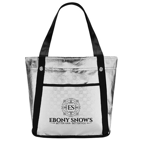Ebony Snows Silver Tote Bag