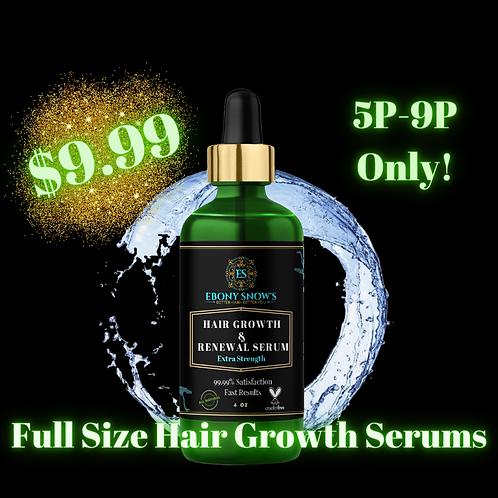 LIMIT 1 Per Order -- $9.99 Hair Growth & Renewal Serum