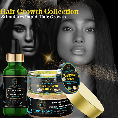 Hair Care & Growth Set Includes Serum, Scrub & Butter
