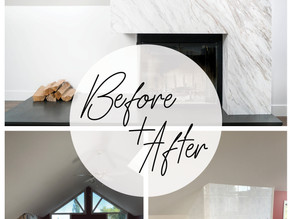 BEFORE + AFTER: MODERN FIREPLACE