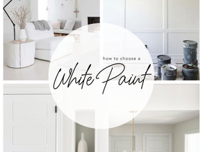 HOW TO CHOOSE A WHITE PAINT