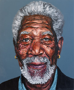 Morgan Freeman in Impasto