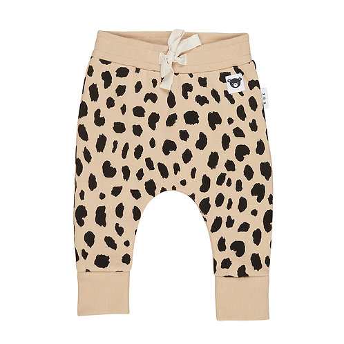 Huxbaby Pantaloni Beige - Leopardato