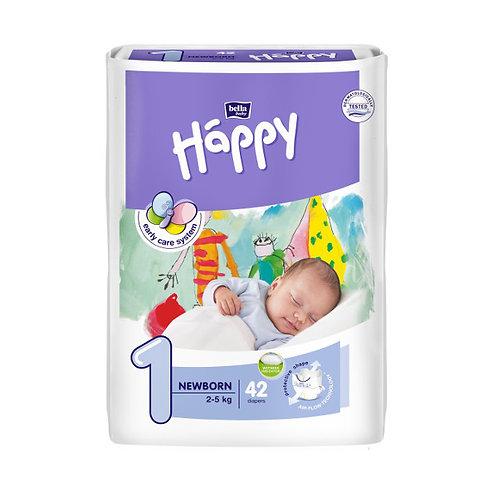 Pannolini Happy BellaBaby – 1 Newborn 2/5kg  – 42 pezzi